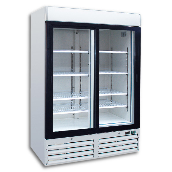 Double Door Upright Display Chiller Collection Only